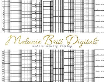 SPREADSHEETS Digital Paper, Grids, Columns, Drafting, Office Papers, Digital Paper Pack, Printable pdf, INSTANT DOWNLOAD