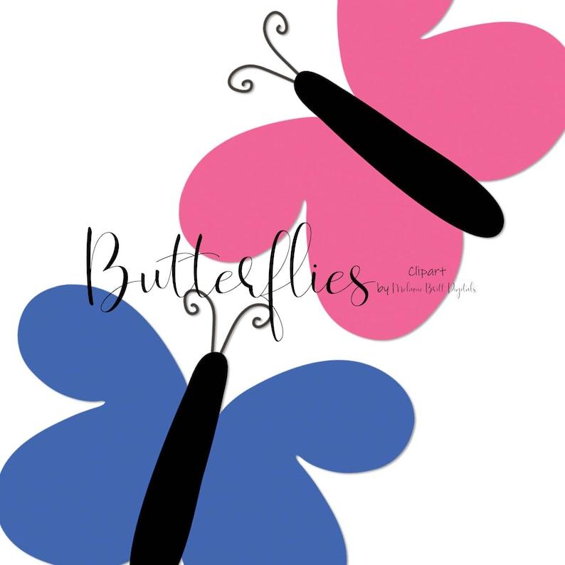 Butterfly graphic Digital scrapbook Garden Planner clipart Colorful butterflies Digital butterflies Butterfly clipart Spring clip art