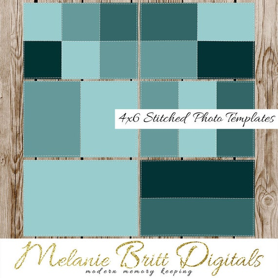 4x6 PHOTO TEMPLATES Stiched Templates Storyboard Template Etsy