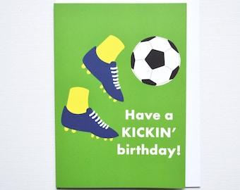 Football Lovers Birthday Card -  Funny Sports Pun Birthday Card, World Cup Gift, Footie Birthday Present