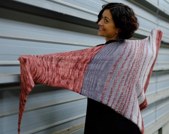 KNITTING FILE pdf version to print - in French - Arletty Shawl Model