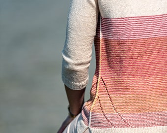 KNITTING SHEET pdf version to print - French / sweater model DEBBIE