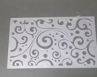 Swirls and dots cake stencil