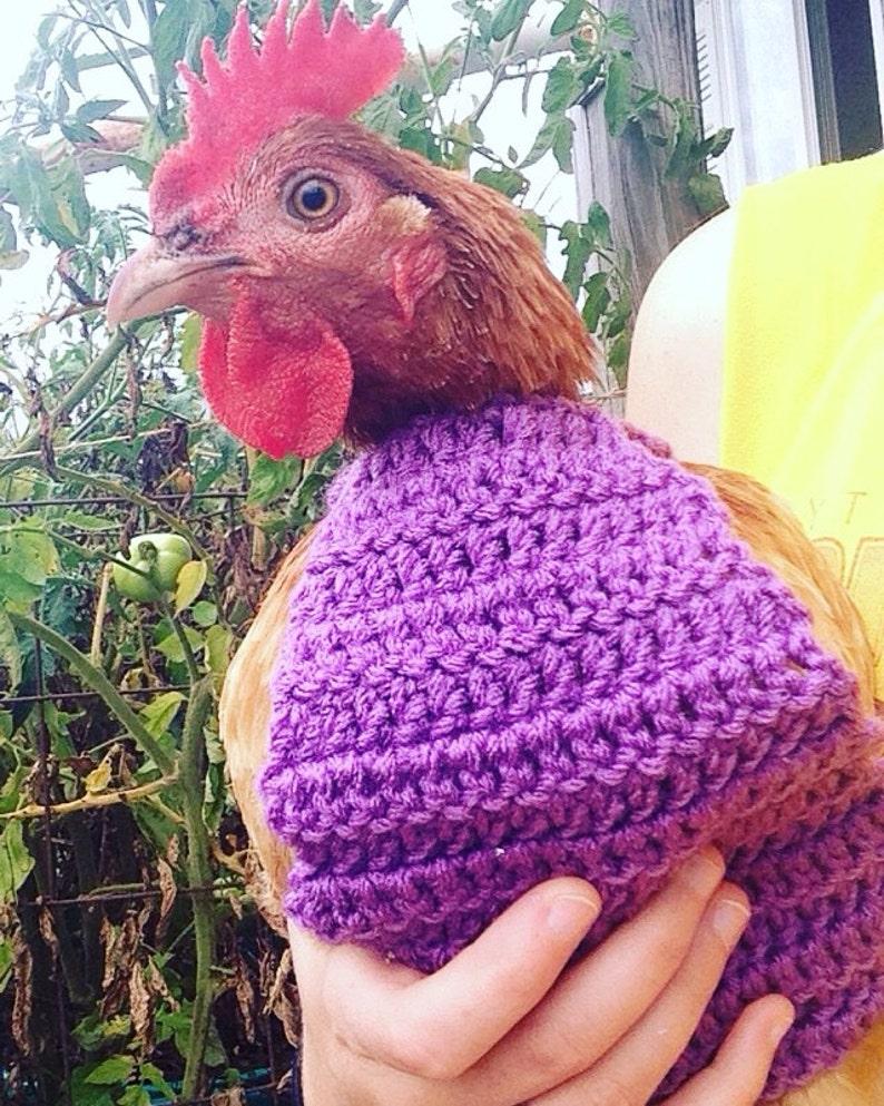 709ec0375f1f1 CROCHET PATTERN Crochet Chicken Sweater PATTERN with Crew