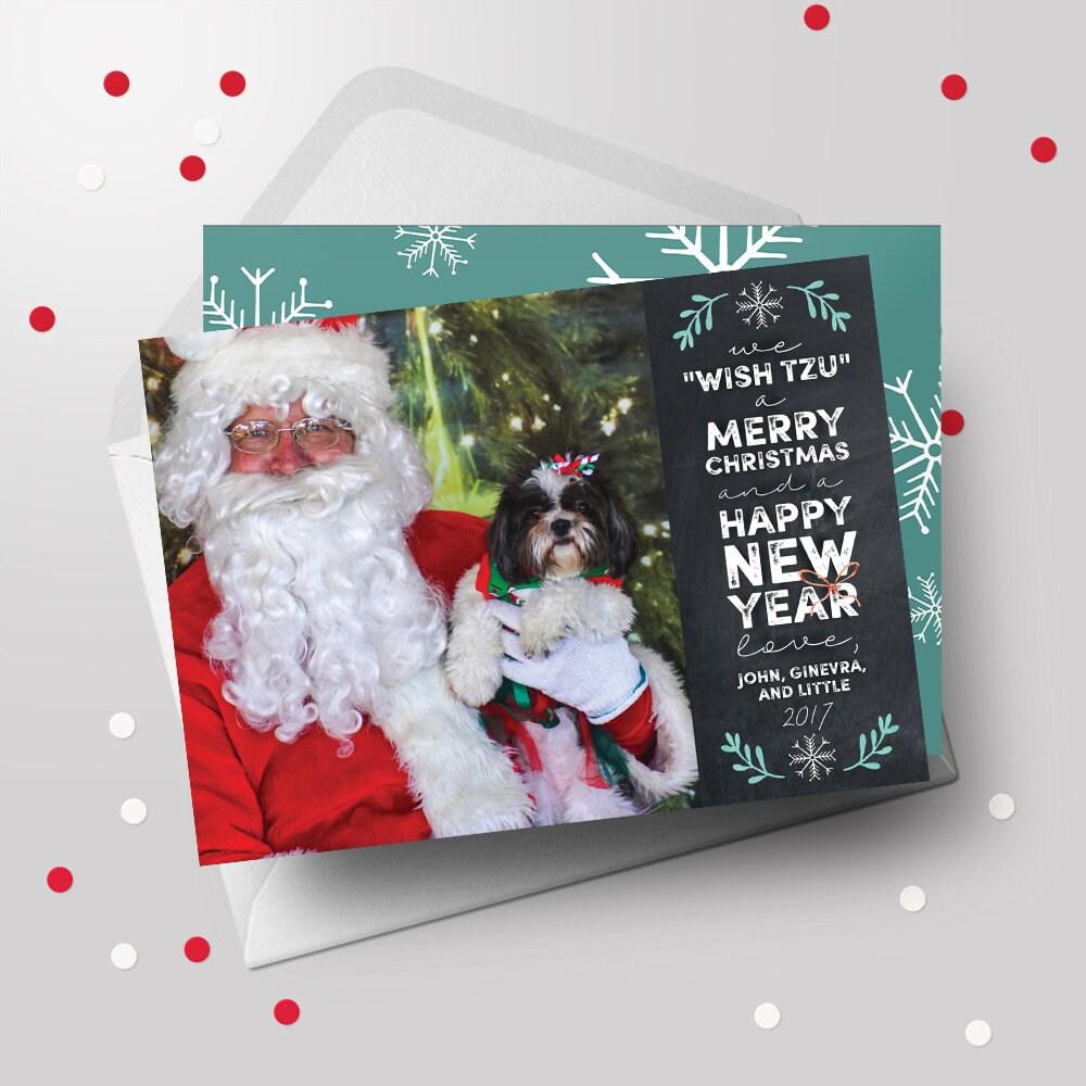 Pet Christmas Card Pet Holiday Card Pet Christmas Greeting | Etsy