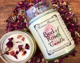 Bed of Rose All Natural Aromatherapy Love Candle