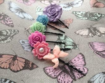 SALE! Summer Rose Hair Pins