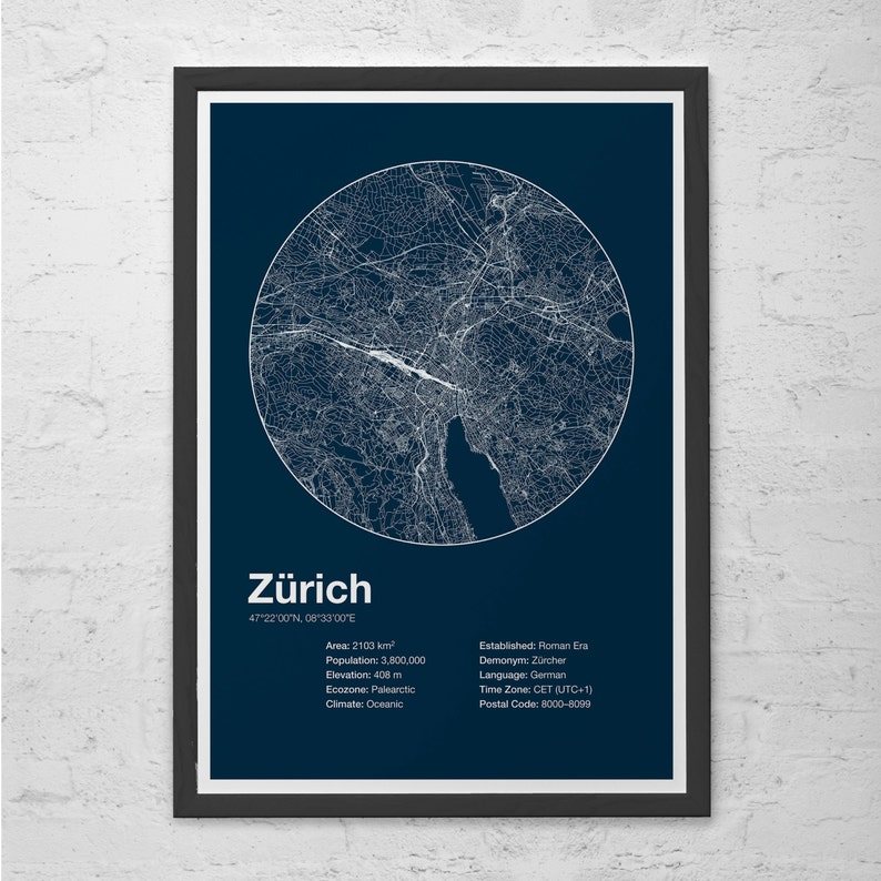 Street Map Art City Print - Zurich, Switzerland - Minimalist Map of on switzerland on europe map, zurich germany on map, zurich city map,