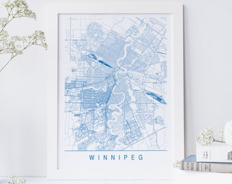 Winnipeg map Etsy