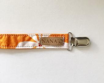 Orange Pacifier Clip