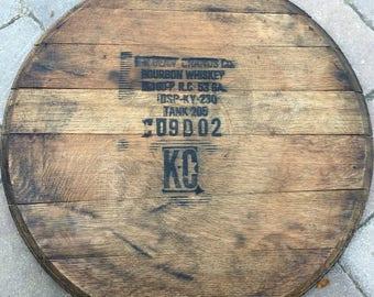 Bourbon Barrel Head Lid Top Barrel Wood Reclaimed Jim Etsy