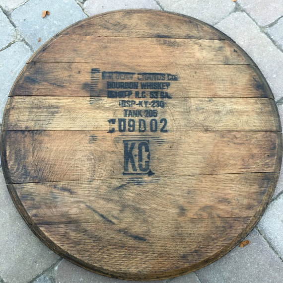 Lazy Susan Bourbon Barrel Head Gift Fathers Day Barrel Top Etsy