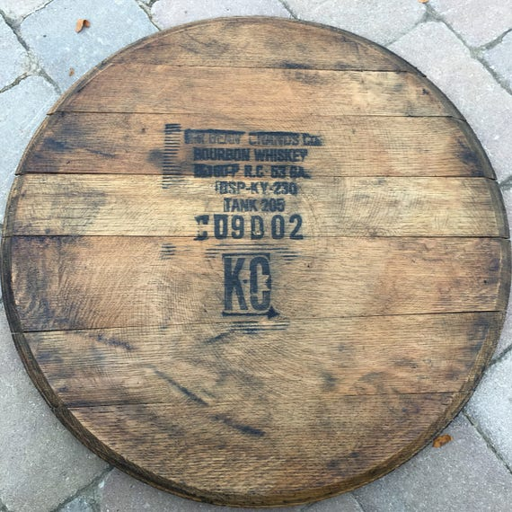 Bourbon Barrel Lid Wall Hanging Gift Guest book Fathers Day | Etsy