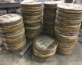 Bourbon Barrel Head, lid, top, barrel wood, whiskey, Woodford, Makers Mark, Buffalo Trace, Four roses, gift for him, dad, husband