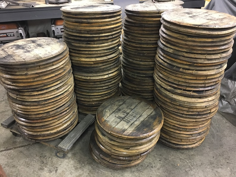 Bourbon Barrel Head lid top barrel wood whiskey Woodford image 1