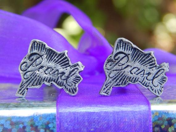 Tocantins Flag Silver Cufflinks Tie Clip Box Gift Set