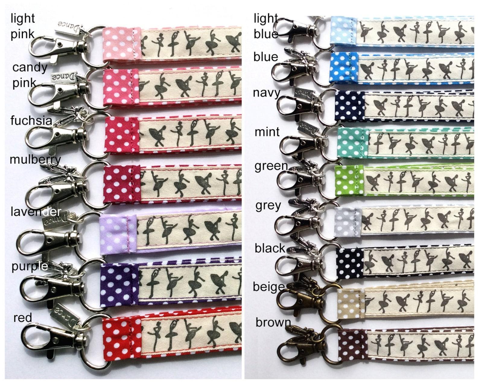 dance lanyard, ballet lanyard, ballerina lanyard, ballet keychain, dance key ring, id badge holder, dance gift, ballet gift