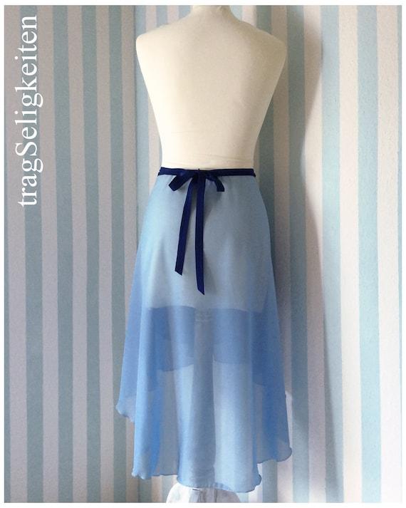 smoke blue adult dance wear performance dance clothing Long ballet wrap skirt R28SB tapered rehearsal skirt blue ballet skirt