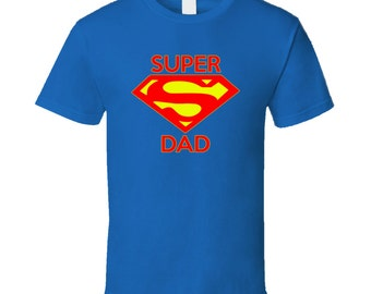 dce36492 A Super Dad Vintage look T Shirt for Dad Papa Grandpa Son Brother Christmas  gift Father's Day T Shirt Gift