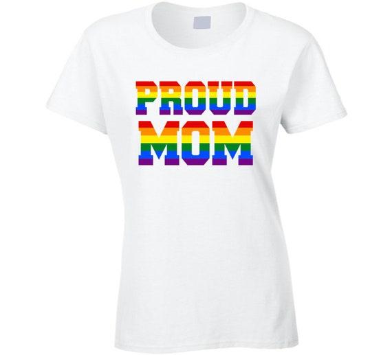 Proud Mom LGTBQ T Shirt Proud Mother of LGBTQ Gay Pride  72064d6195a8d