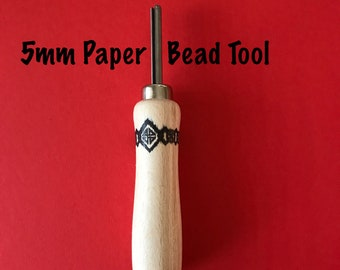 Paper Bead Making Tool 5mm - The Easy Beady Paper Bead Tool With a New Handle - Make Paper Beads Easily With This Stylish New Look