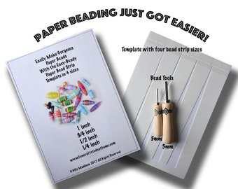Free Gift Offer! Paper Bead Making Tools. Buy the 3mm and 5mm Tools By Easy Beady together and Get the Bead Strip Stencil Template Free!