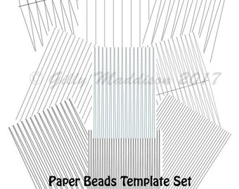 Paper Bead Templates For Silhouette Cameo Or Cricut Cutting Etsy