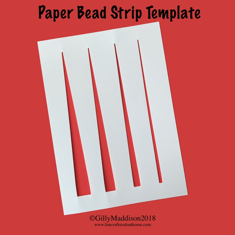 Paper Bead Strip Stencil Template image 0