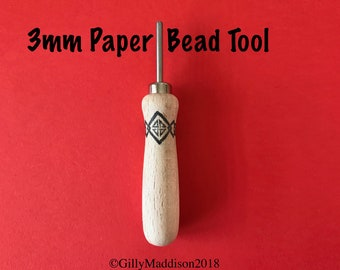 Paper Bead Making Tool 3mm - The Easy Beady Paper Bead Tool With a New Handle - Make Paper Beads Easily With This Stylish New Look