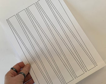 Paper Bead Templates Overlay Printable To Cut 1 inch Strips. UK & US  PNGs. No measuring. No drawing lines. Paper bead strips the easy way!