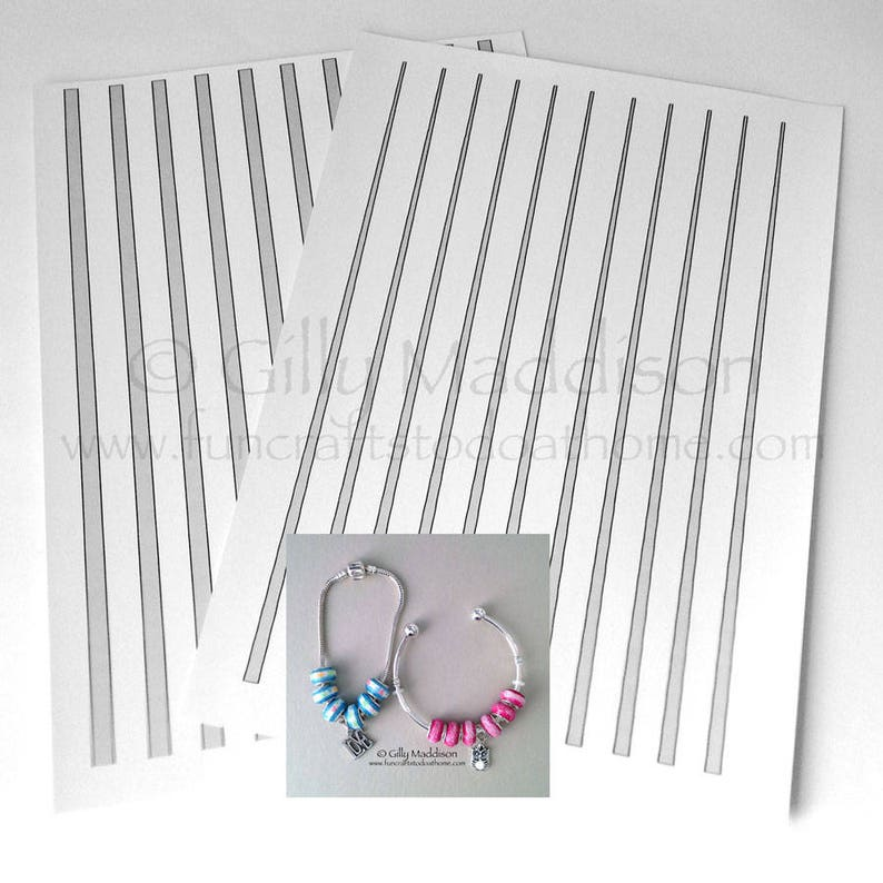 European Style Paper Bead Templates  7mm Tapered in two parts image 0