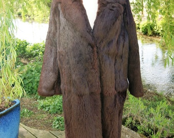 1950's French Coney Fur 3/4 length Coat
