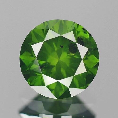 0,51 ct 4,9 mm naturel Rare diamant naturel mm rond fantaisie vert Loose Diamonds navire gratuit 1e7307