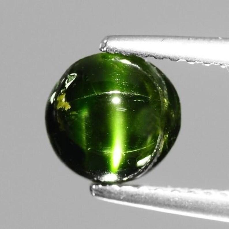 2.27cts Natural Loose Gemstones Oval Mix Cabochon Green Kornerupine Cat/'s Eye