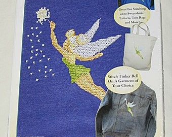 Disney Dreams Collection Tinker Bell Vignette Cross Stitch Wearable Kit-New