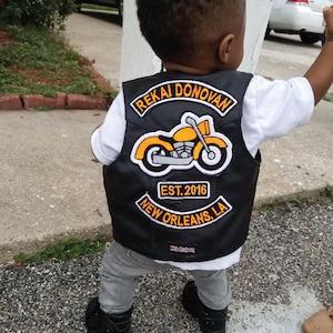 Biker Vest TODDLER LEATHER VEST Halloween Costume Motorcycle Vest Sons of Anarchy Kid Biker Vest Harley Davidson Kids Valentine Gift