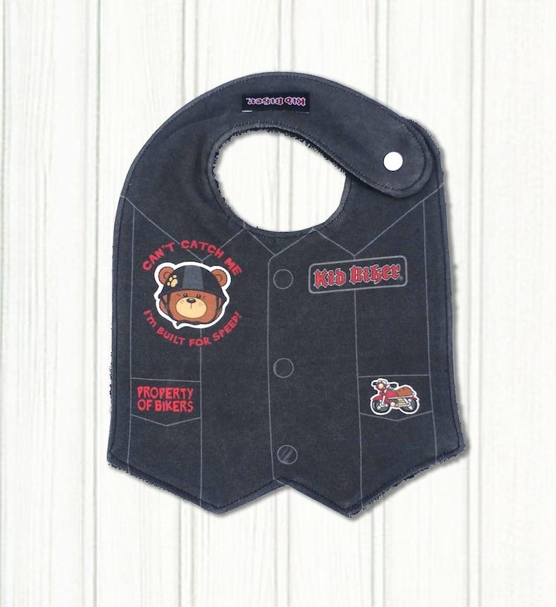 649c11054108 BABY VEST BIB Baby Bib Harley Davidson Baby Motorcycle