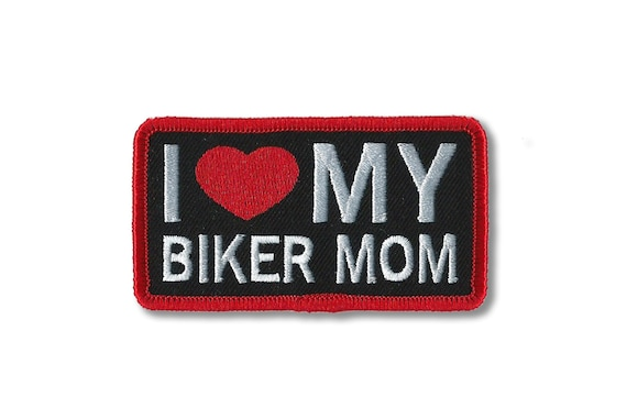 Embroidery Patch I Love My Mom Patch Patches Harley Etsy