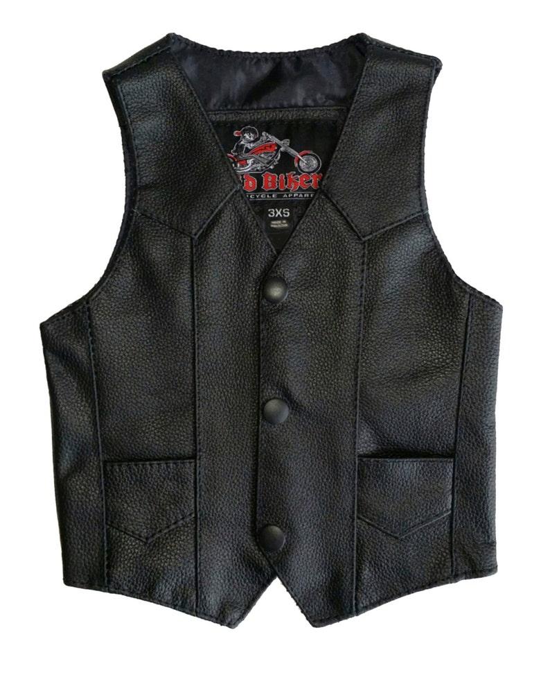 e1e388e915b5 BABY LEATHER VEST Baby Biker Vest Harley Davidson Baby