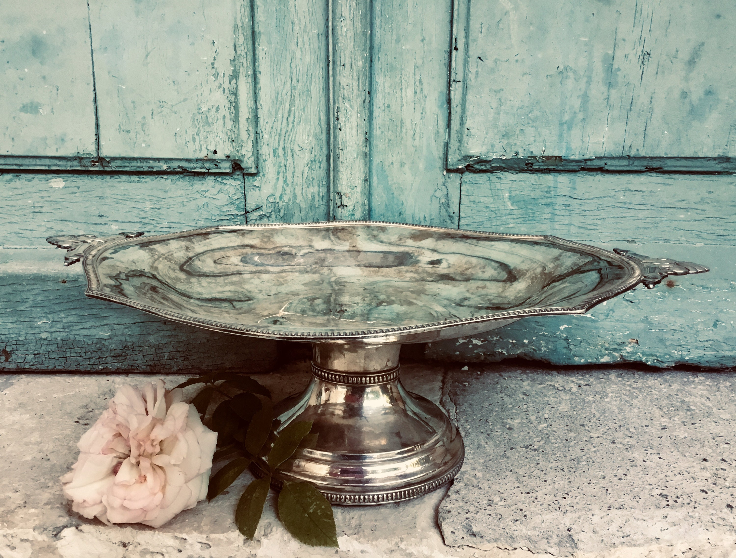 Beautiful French Silver Plated Rose Bowl