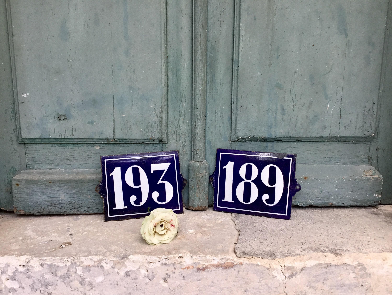 ed11c4abaced French number plaques - Vintage French blue porcelain enamel ...