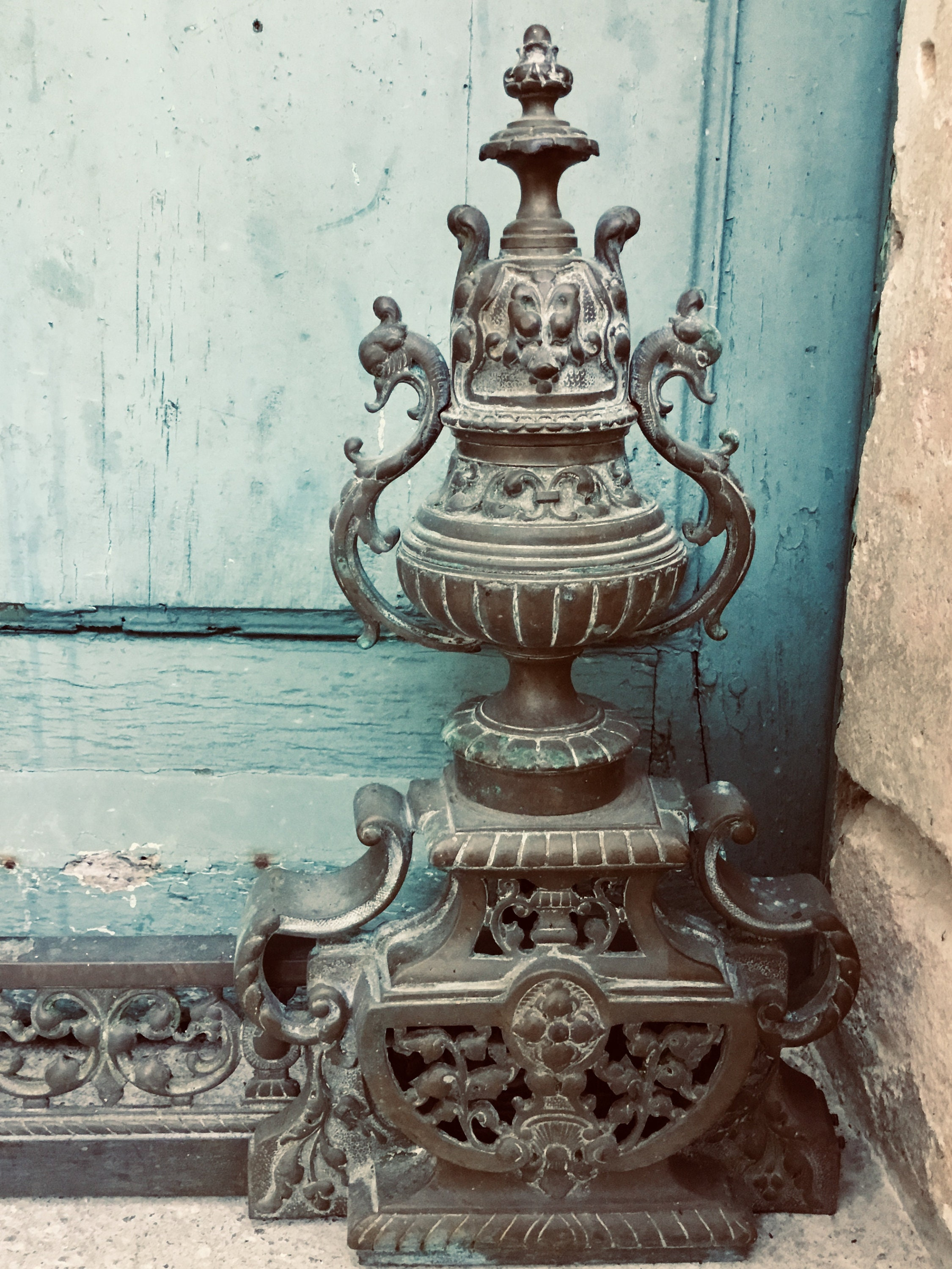 Stunning Antique French Louis Phillipe Bronze French Fireplace