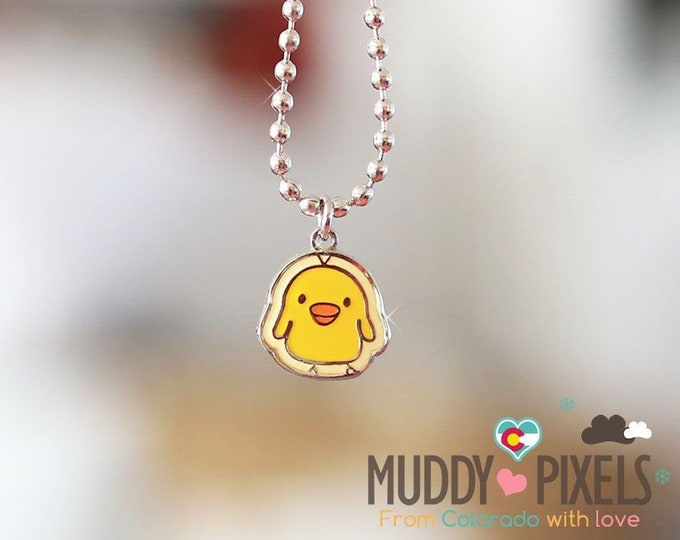 Rare! Kiiroitori Chicken Enamel Necklace! Rilakkuma and Friends