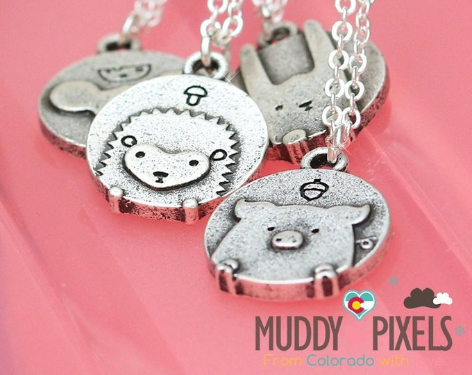 Tiny Kawaii Unique Rustic antique or vintage style animal necklace! You choose!