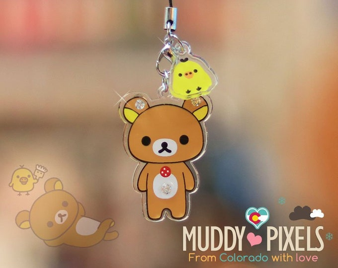 Rare! Unique Adorable Rilakkuma Acrylic key chain or charm! U Choose!