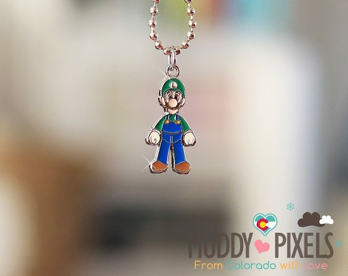 Mario Bros Necklace featuring Luigi!