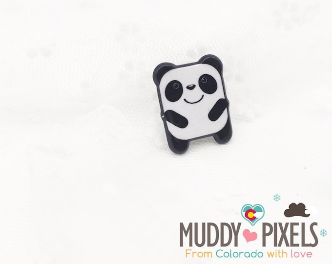 Cute little kawaii panda pin