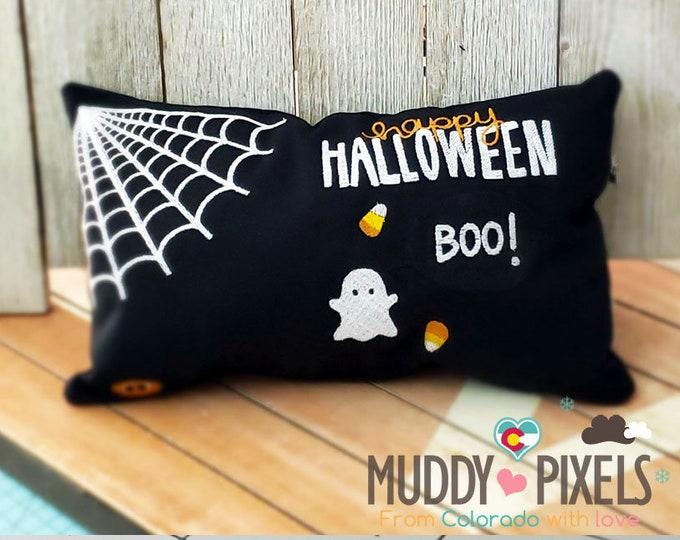 Cute Halloween Themed Small Pillow with Charm!