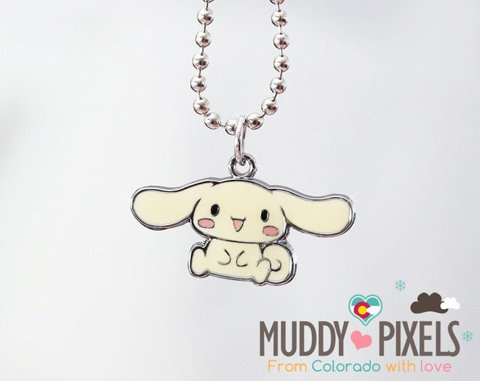Rare! Cinnamoroll Enamel Necklace!