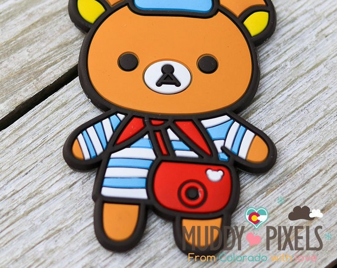 Rare! Unique Adorable Rilakkuma Paris charm KeyChain